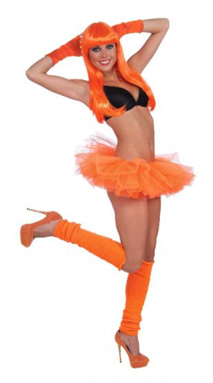 Petticoat Tutu Neon Orange Womens Costume