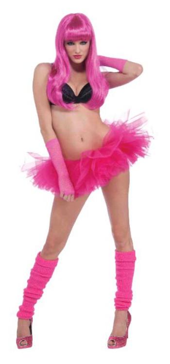 Petticoat Tutu Neon Pink Womens Costume