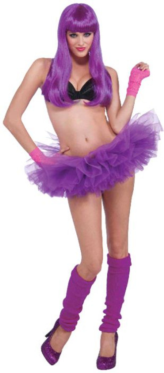 Petticoat Tutu Neon Purple Womens Costume