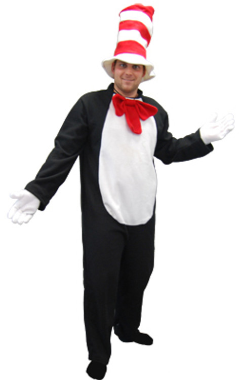 Dr. Seuss The Cat in the Hat - Cat with Hat Adult Costume