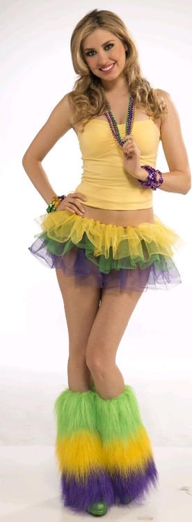Petticoat Tutu Mardi Gras Womens Costume