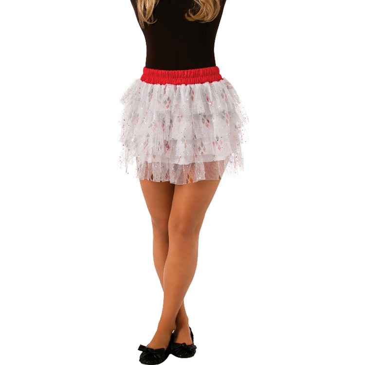 Batman Harley Quinn Sequin Skirt Womens Costume