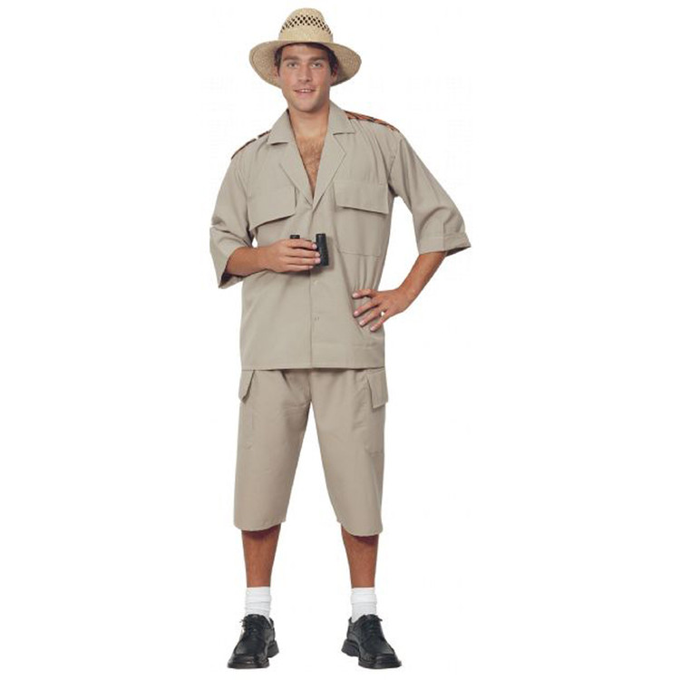Safari Suit Adventurer Khaki Adult Costume
