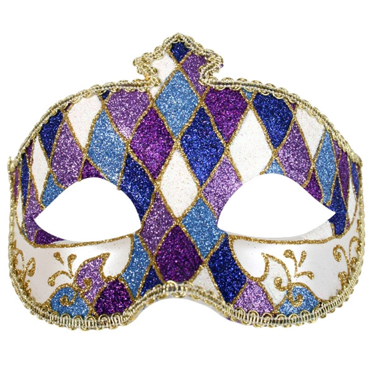 Fiorella Glitter Blue & Purple Eye Mask