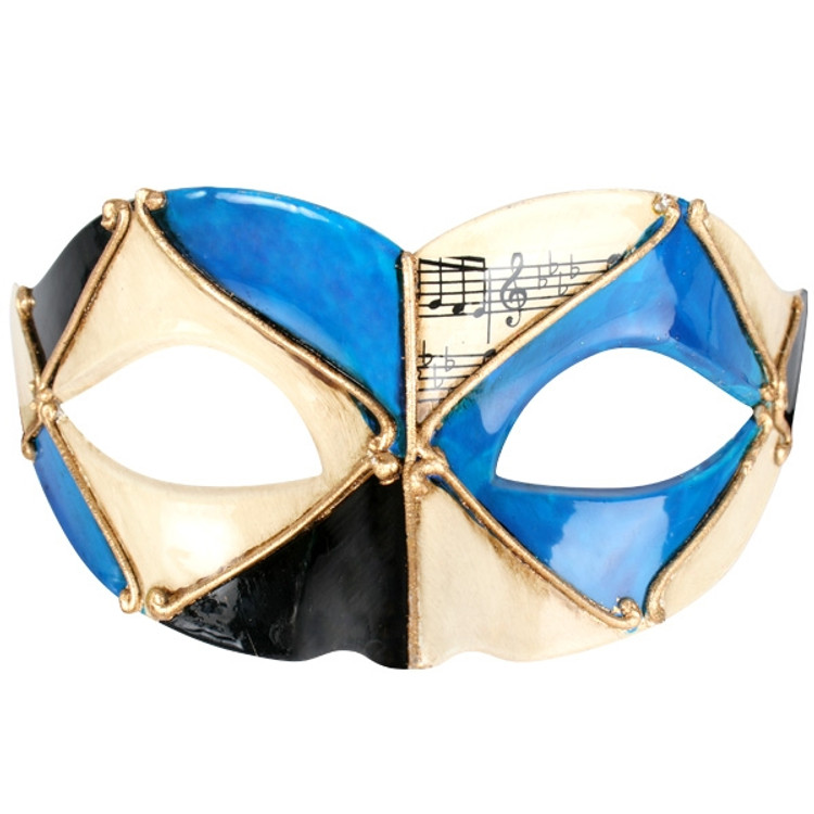Pietro Blue & Black Eye Mask