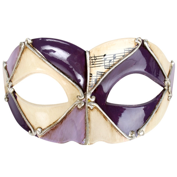 Pietro Purple & Black Eye Mask