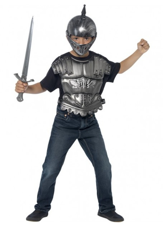 Medieval Helmet & Armour Set Kids