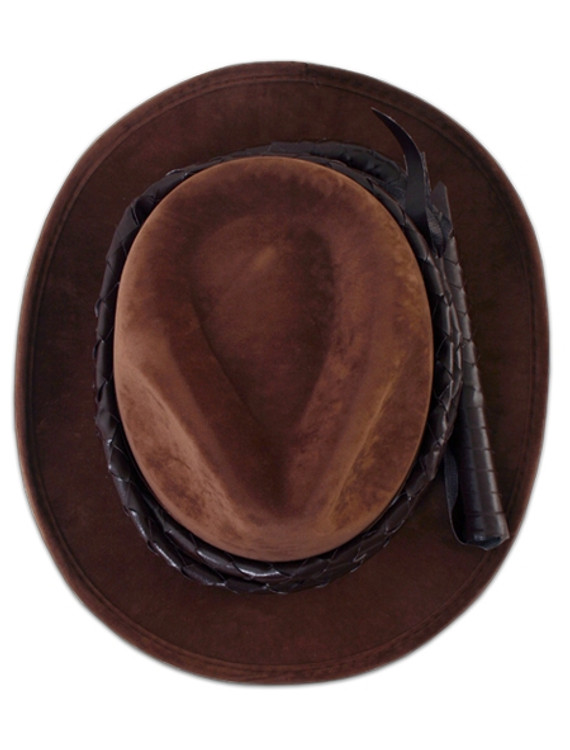Indiana Jones Hat & Whip Set Mens Costumes