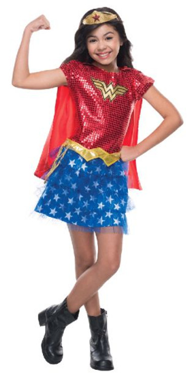 Wonder Woman Sequin Girls Costume