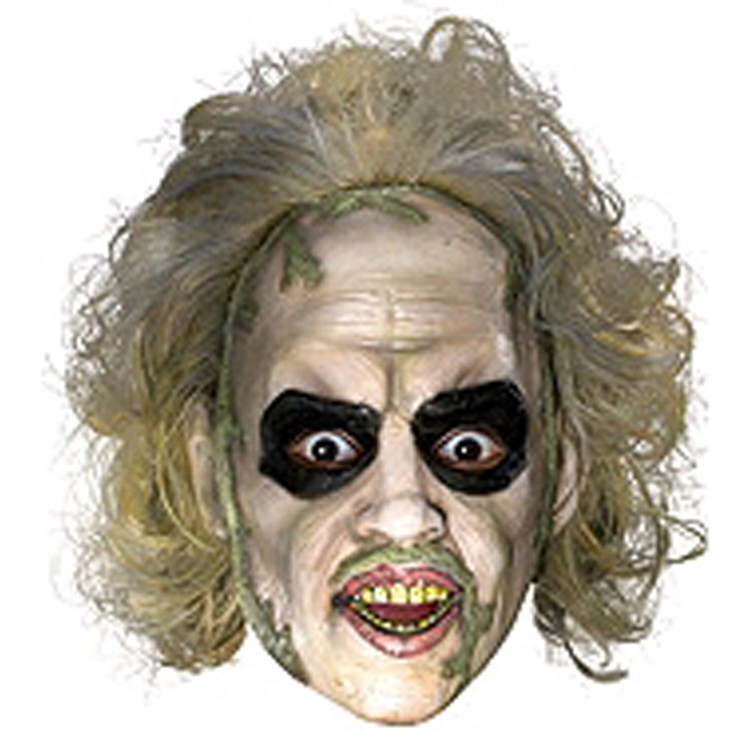 Beetlejuice 3/4 Vinyl Mask with Hair