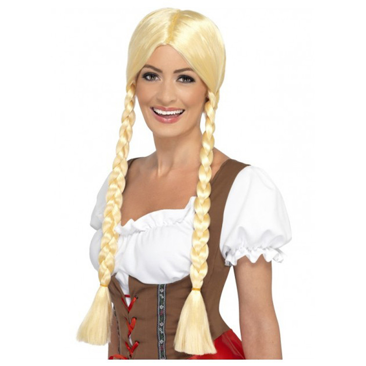Plaits Oktoberfest Bavarian Beauty Blonde Wig