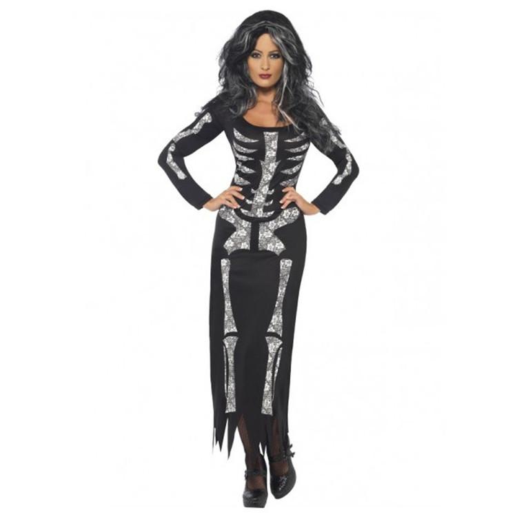 Skeleton Dress Womens Costume