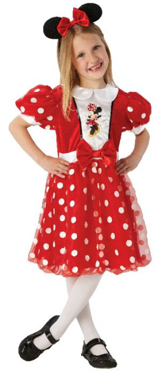 Minnie Mouse Red Glitz Girls Costumne 4-6yrs