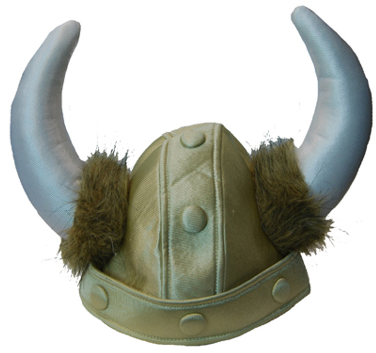 Helmet Plush Gold with horns - Viking