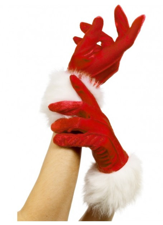 Christmas - Short Santa Gloves
