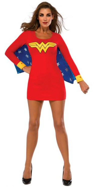 Wonder Women Womens Dress with Wings