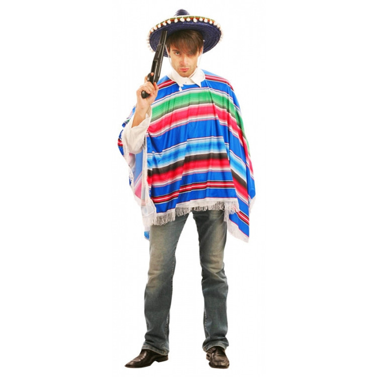 Mexican Poncho - Multicolour - Adult