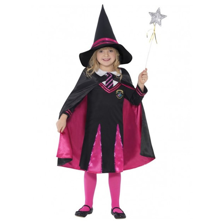 Witch School Girl Kids Costume