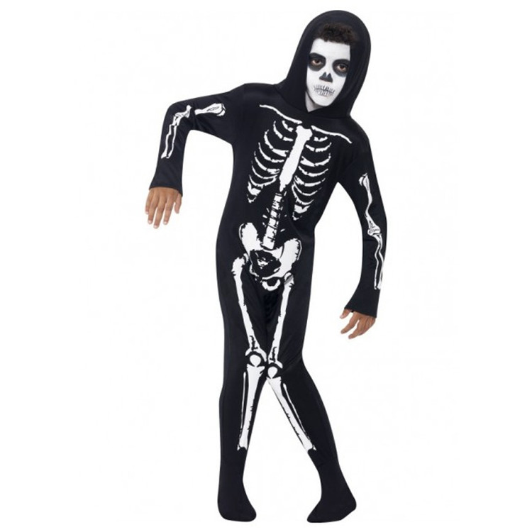 Skeleton Kids Onesie With Hood Costume
