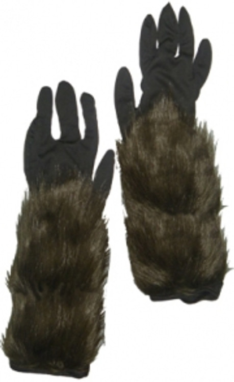 Werewolf Long Hairy Gloves