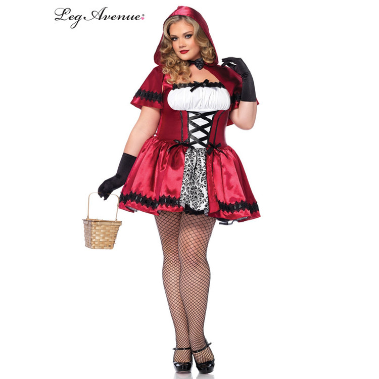 Red Riding Hood Gothic Sexy Plus Womens Costume