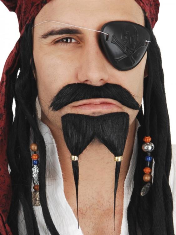Pirate Mo & Goatee Black