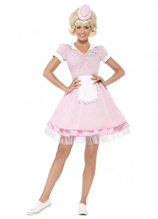1950s Diner Girl Womens Costume