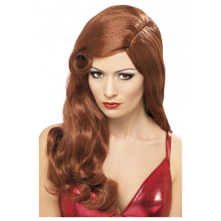 Jessica Rabbit Silver Screen Sensation Hollywood Star Auburn Wig
