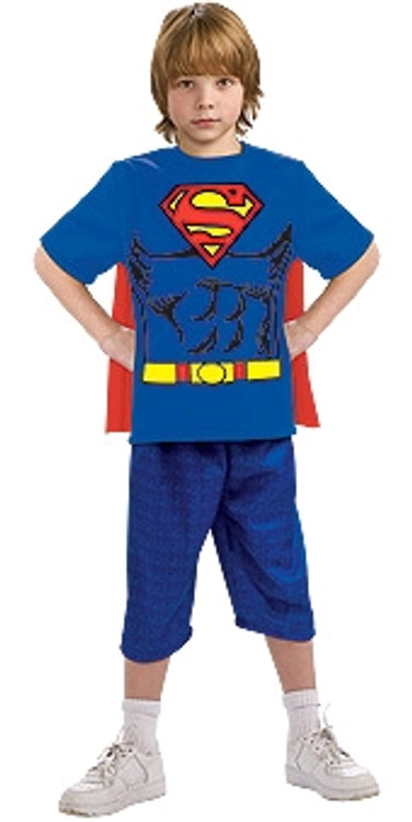 Superman T-shirt Kids Costume