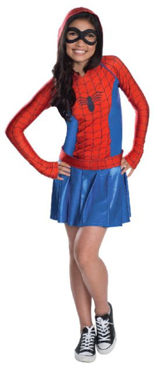 Spidergirl Hoodie Dress Teen Costume