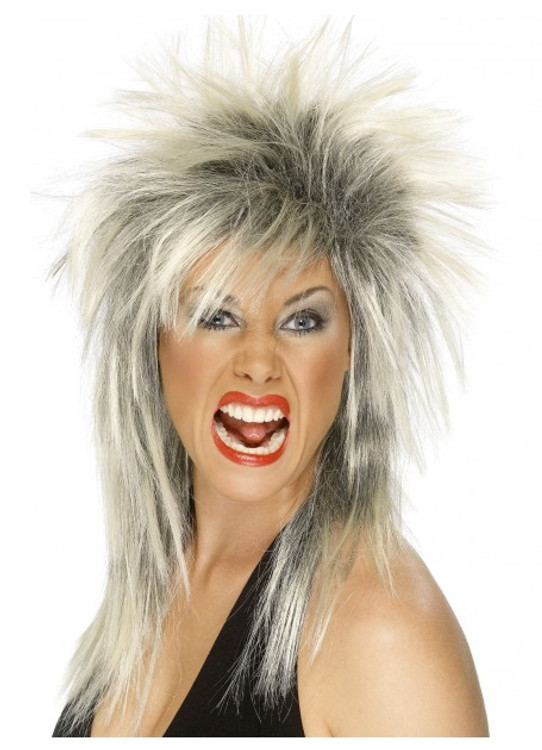 Rock Diva Mullet Blonde and Black Wig
