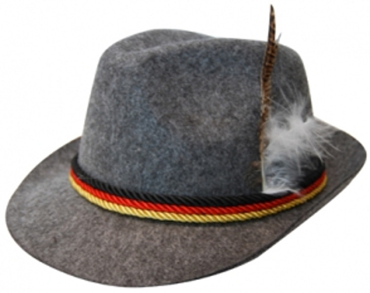 Oktoberfest German Hat w/Feather