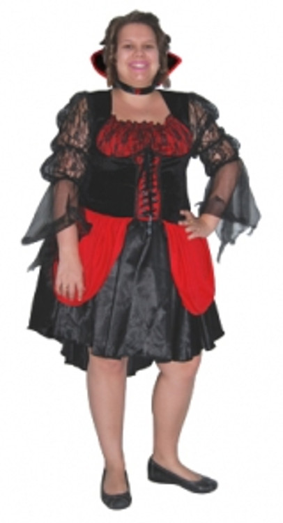 Vampiress Womens Plus Size Costume