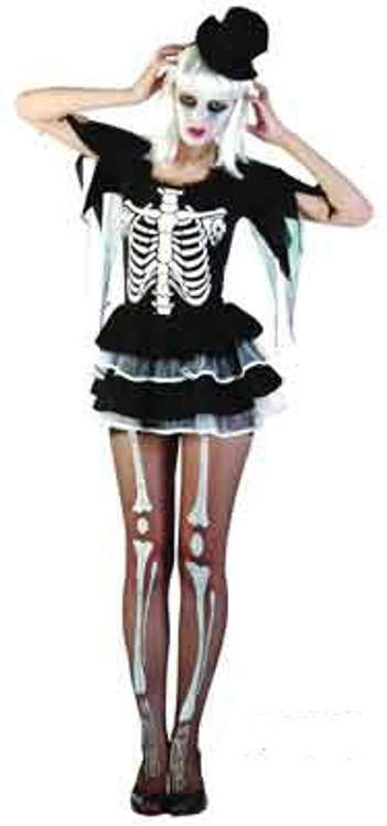 Skeleton Sassy Girl Womens Costume