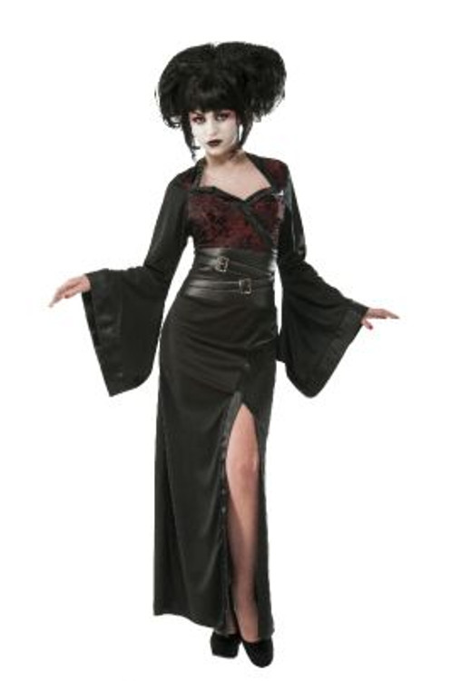 Gothic Geisha Japanese Women's Costume