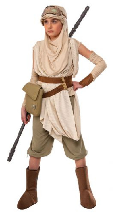 Star Wars - The Force Awakens Rey Premium Girls Costume