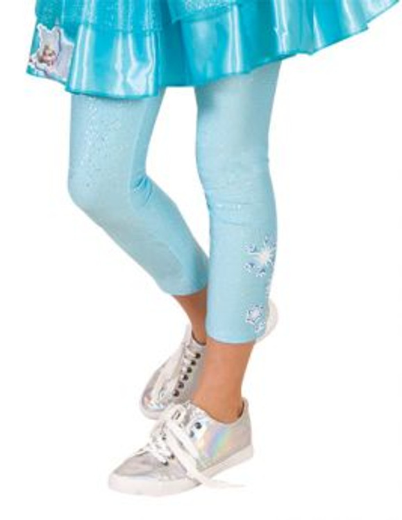Frozen Elsa Girls Footless Tights