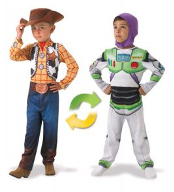Toy Story Woody to Buzz Light Year Reversible Boys Costume