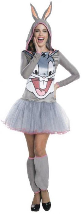 Looney Tunes - Bugs Bunny Hooded Womens Costume