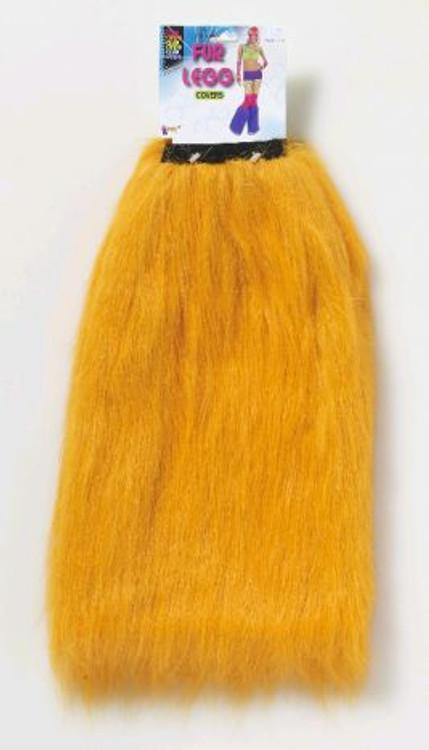 Orange Fur Leg Warmers