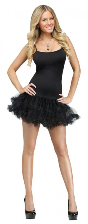 Petticoat Dress Adult Black