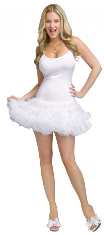 Petticoat Dress Adult White