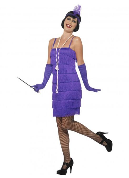 Flapper Purple Womens Costume