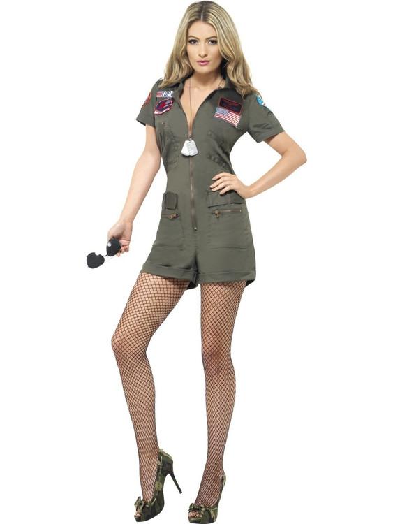 Top Gun Aviator Womens Costume