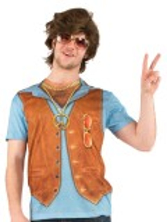 1970's Hairy Chest T-Shirt Mens Costume