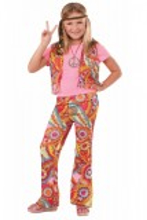 60's 70's Retro Hippie Kids Costume