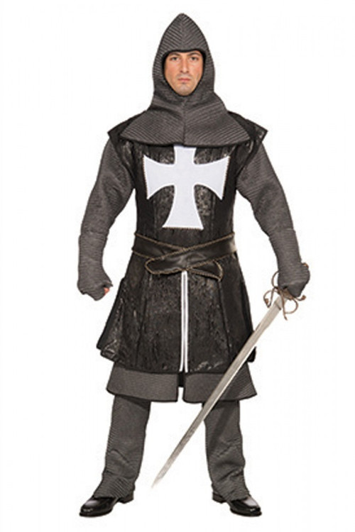 Knight Black Renaissance Mens Costume