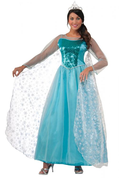 Frozen Elsa Snow Queen Princess Womens Costume