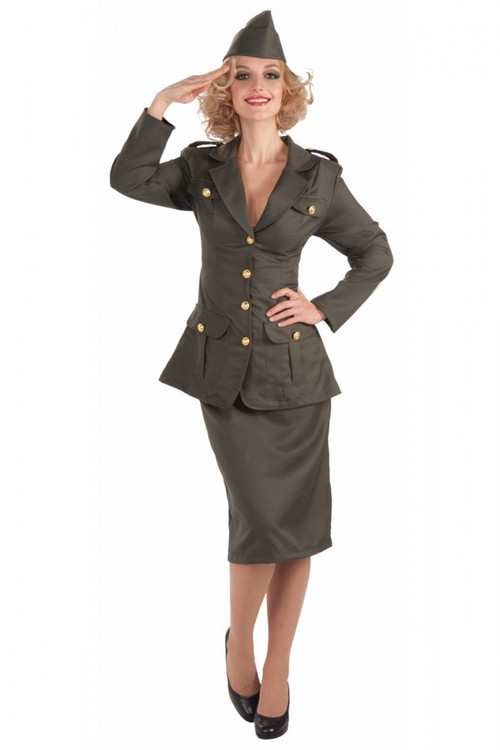 1940's WWII Army Girl Costume