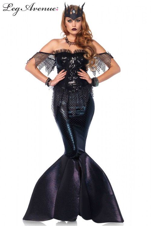 Mermaid Dark Water Siren Womens Costume
